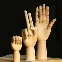 Movable joint wooden hand model Creative wooden Hand Model crafts Home decor Model wooden hand