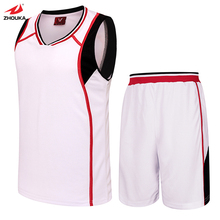 Classic Black White Blank Basketball training suit free shipping(China)