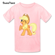 Unicorn Horse Boys Girls T Shirt Pure Cotton Short Sleeve Round Neck Tshirt Children Tops 2017 Customized T-shirt For Ki