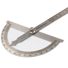 New S.S Protractor Round Head Angle Square Craftsman Rule Ruler Machinist 90 x 150mm Stainless Steel General Tool