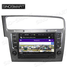 SINOSMART 1.6GHz, Quad Core Android 5.1 Car DVD Player GPS Navigation for Volkswagen Golf 7 2013-2015 with Canbus