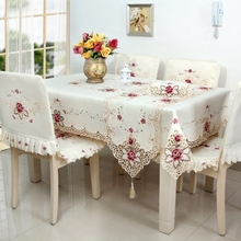 New Hot embroidered table cloth household hotel and catering wedding tablecloth various sizes Home Table Textile Decoration(China)