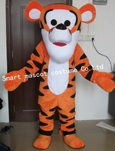Lovely dump tiger mascot costume adult tiger costume(China)