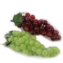 Bunch Lifelike Artificial Grapes Plastic Fake Decorative Fruit Food Home Decor 2 Colors Drop Shipping HG-0985(China)