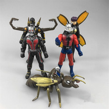 5pcs/lot Ant Man Action Figure Toys, Super Hero 8-12cm PVC Ant-Man Figure Model Kawaii Antman Toys For Children Anime Brinquedos