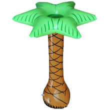 Hawaiian simulation coconut palm trees tropical inflatable fake green plants children living room pendulum decoration props