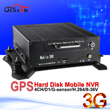 2016 Sale 4ch channel CCTV NVR DVR Recorder 720P Real Time Playback Network 3G GPS CAR DVR For Ip Cameras(China)