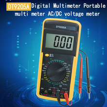 DT9205A AC DC LCD Display Professional Electric Handheld Tester Meter Digital Multimeter(China)