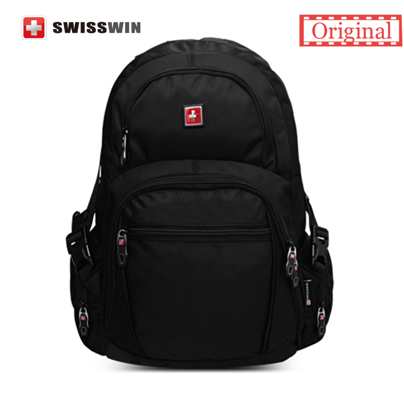 Swiss Quality Men Orthopedic Backpack 15 Computer Backpack Bag For Students Black Bagpack mochilas masculino sac a dos Zaini<br><br>Aliexpress