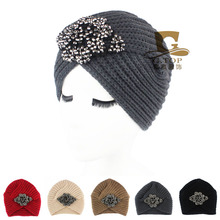 Free Shipping 2016 New Fashion Ladies Accessory Winter Warm Turban Soft Knit Headband Beanie Crochet Headwrap Women Hat Cap
