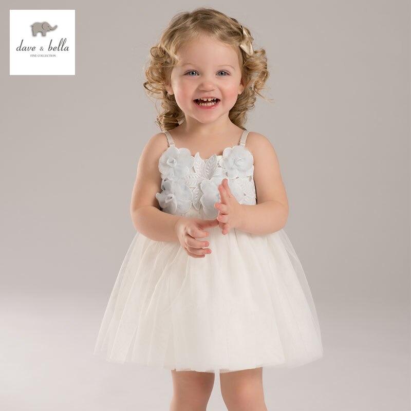 DB3403 dave bella summer baby girl flower princess dress baby  cute  dress kids birthday clothes dress baby princess costumes<br><br>Aliexpress