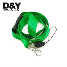 "Free shipping-Plain ""GRASS GREEN"" Lanyard Keychain Necklace Cell Phone Holder ID badge holder neck straps 12pcs/lot Wholesale(China)"
