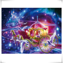 Princess carriage Mosaic needlework 5D diy diamond painting dream Star Palace cross stitch square rhinestone drill embroidery
