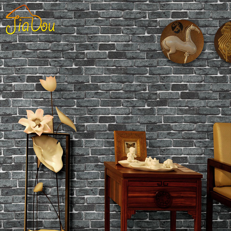 Modern Vintage Deep Embossed 3D Brick Stone Pattern Wallpaper For Walls Living Room Kitchen Waterproof Wallpaper Wall Covering<br><br>Aliexpress