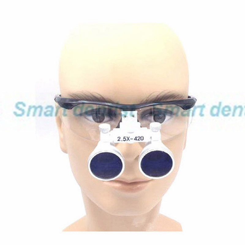 2016 2.5X factory price adjustable eye distance surgical magnify teeth magnifier enlarge glasses dental loupe<br>