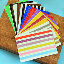 DIY Homemade material Album Tool Accessories Corner Retro PVC Angle Paste Stickers Colorful Sticker Album
