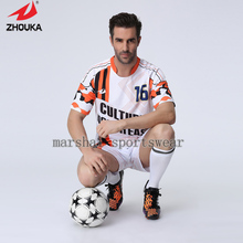 100%polyester,top quality,fully sublimation custom soccer jersey,make your own jersey,MOQ 5pcs,(China)