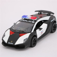 1:38 Scale Diecast & Toys Vehicles Cars Toy, 12cm Alloy Police Cars Toys, Pull Back Police Car Models, Black Toys For Children