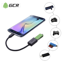 GCR Micro USB OTG Cable Black White USB OTG Adapter USB Cable For Smartphone Tablet Android Meizu Xiaomi Samsung LG Sony HTC