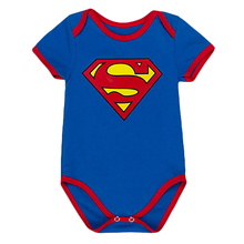2017 Superman Romper Cloak Cape Cartoon Climb Baby Boys Clothes Jumpsuit Batman Baby Rompers Baby Girls Romper Infants Costume