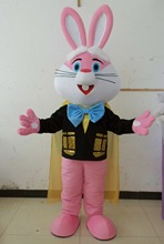 pink bunny costume adult bunny mascot costume easter bunny costume(China)