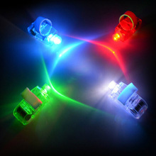 100pcs/lot LED Finger Lights Toy Glowing Dazzle Colour Laser Emitting Night Light Birthday Party Festival Light Up Toys for Gift
