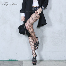 Buy Tight Fishnet stockings Black Sexy pantyhose female Mesh tights stocking club party hosiery Night Party Fashion Show