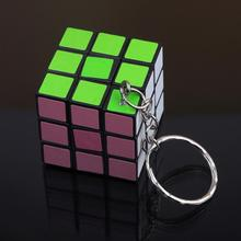 Fashion Cool Mini Toy Key Ring Magic Cube Game Puzzle Key Chain Carrying KEY-0082