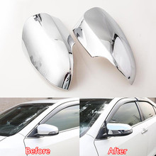 2Pcs/set Exterior Front Car Side Rearview Mirrow Cover Trim Chromium Styling Protector Accessory Fit For Toyota Camry 2015