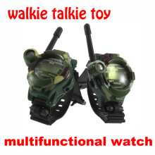 2PCS Walkie Talkie Toys Children Military Style Wrist Watch Multi-functional Two Way Radio Toy with Compass Magnifier Reflector