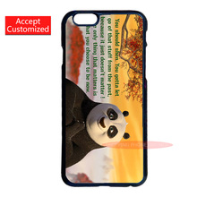 Cartoon Kung Fu Panda Quotes Case Cover for LG G2 G3 G4 iPhone 4 4S 5 5S 5C 6 6S 7 Plus iPod Touch 4 5 6 Accept DIY Customized