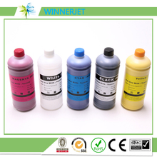 1000ml!!!For Epson F2000 L800 1390 printer DTG Tinta Textile ink(BK C M Y WH WH)