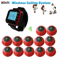 12call buttons+1 watches wireless service waiter remote call bell system wireless call restaurant pager call table waiter call