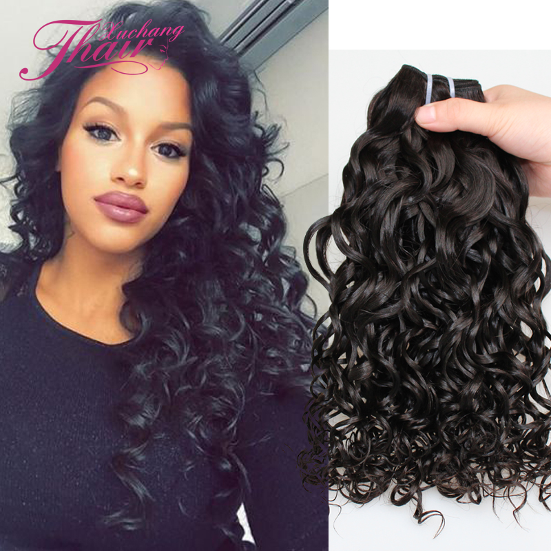 Grade 7A  Brazilian Unprocessed Virgin Human Hair 2017 Cheap Water Wave Spiral curl Hair Bundles 3Pieces Brazilian Jerry Curl<br><br>Aliexpress