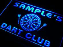 ts-tm Name Personalized Custom Dart Club Bar Beer Neon Sign with On/Off Switch 7 colors