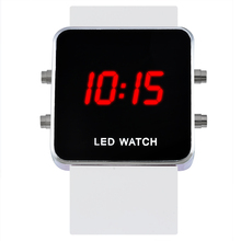 FUNIQUE Fashion Sports Watches Women Silicon Square LED Watch Children Mirror Digital Watch Military Watches Luxury Brand(China)