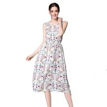 Buy 2017 summer dress Sexy Women Long Bohemia Dress Sleeveless Floral Print Beach Dresses Vestidos Party Casual slim dresses for $6.95 in AliExpress store