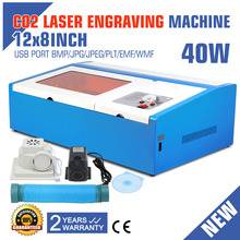 40W USB CO2 LASER ENGRAVING CUTTING MACHINE ENGRAVER CUTTER W/ COOLING FAN