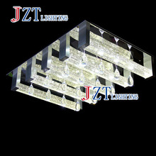 M Square LED Crystal Light Ceiling Lighting Fixture Surface Mounted Crystal LED Lamp for Hallway Aisle Corridor Fast Shipping(China)