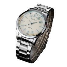 McyKcy men watches 2017 top brand luxury famous Stainless Steel Analog Quartz Wrist Watch Reloj hombre cheap wristwatch #YH