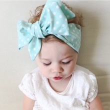 Cute Cloth Headband Bow hair ribbon bow Headwrap Rabbit Ears Bow Elastic Hair Band