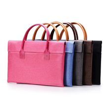 Fashion Ultra Thin Soft Liner Sleeve Briefcase Handlebag Pouch Bag Cover For Macbook Mac Air Pro Retina 13 laptop Case
