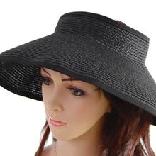 Fashion Summer Beach Travel Lady Foldable Roll Up Wide Brim Sun Visor Straw Hat(China)