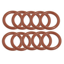 Uxcell 10 Pcs 3.5Mm Thickness Red Silicone O Rings Oil Seal Gaskets Id . | 18mm | 19mm | 20mm | 21mm | 23mm | 24mm | 25mm | 26mm(China)