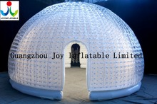 White Color Inside Transparent Color Outside PVC Waterproof Igloo Dome Tent