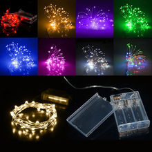 LED Strip 2M 3M 4M 5M 10M Fairy Light String Battery Operated Copper Outdoor Garland Holiday Christmas Wedding Party Decoration