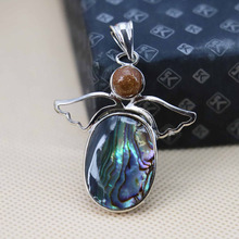 Hot sale Angel wings Ethnic Chic abalone Natural Abalone seashells sea shells pendants jewelry making design crafts gifts