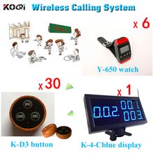 ( 1 Display + 6 Pager + 30 Buzzer ) Restaurant Waiters Caller System Manufacturers Product With Popular Calling Waiter Equipment