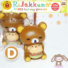 New soft scented Cake kawaii Rilakkuma animal squishy queeze Slow Rising Kid toys Xmas Gift cell phone strap pendant bread bear