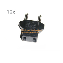 Tracking number + Free shipping 10pcs/lot Adapter for AC Plug US TO EU American to European 2-pin Standard